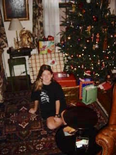 Christmas morning, middle-school style. Notice that the presents were bigger back then