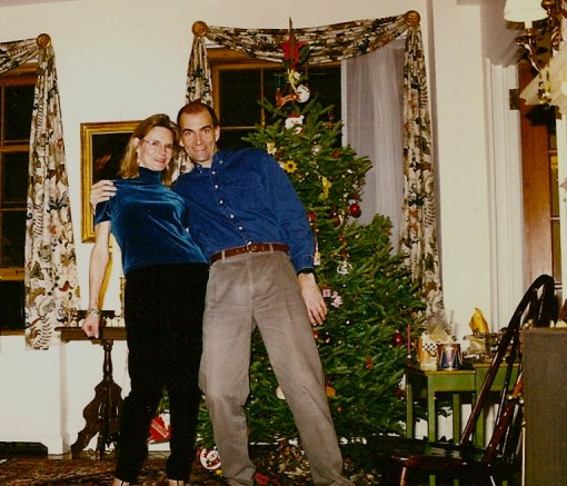 The Dude and I filled with joy during the Very First Tree Trim in 1996