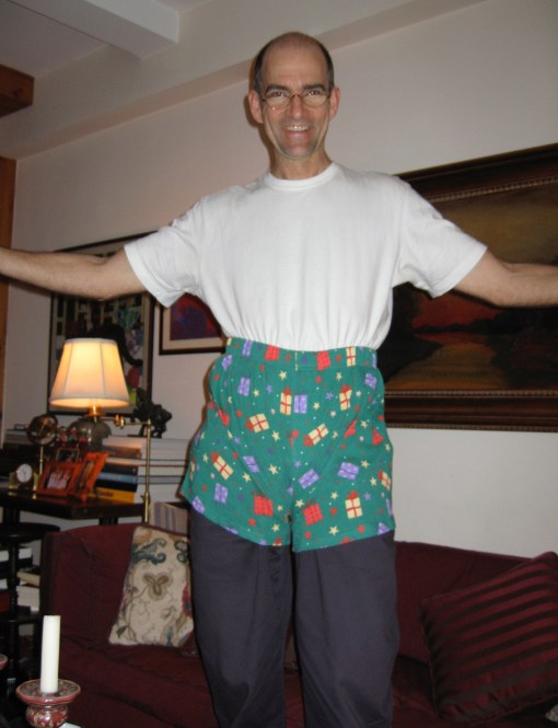 An example of an actual, physical gift. He did wear these for years, though not while hiking