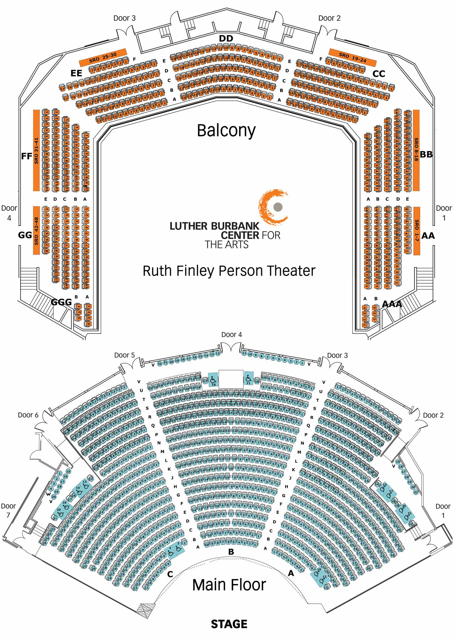 stage directions diagram person redarc bcdc wiring seating luther burbank center for the arts download chart pdf
