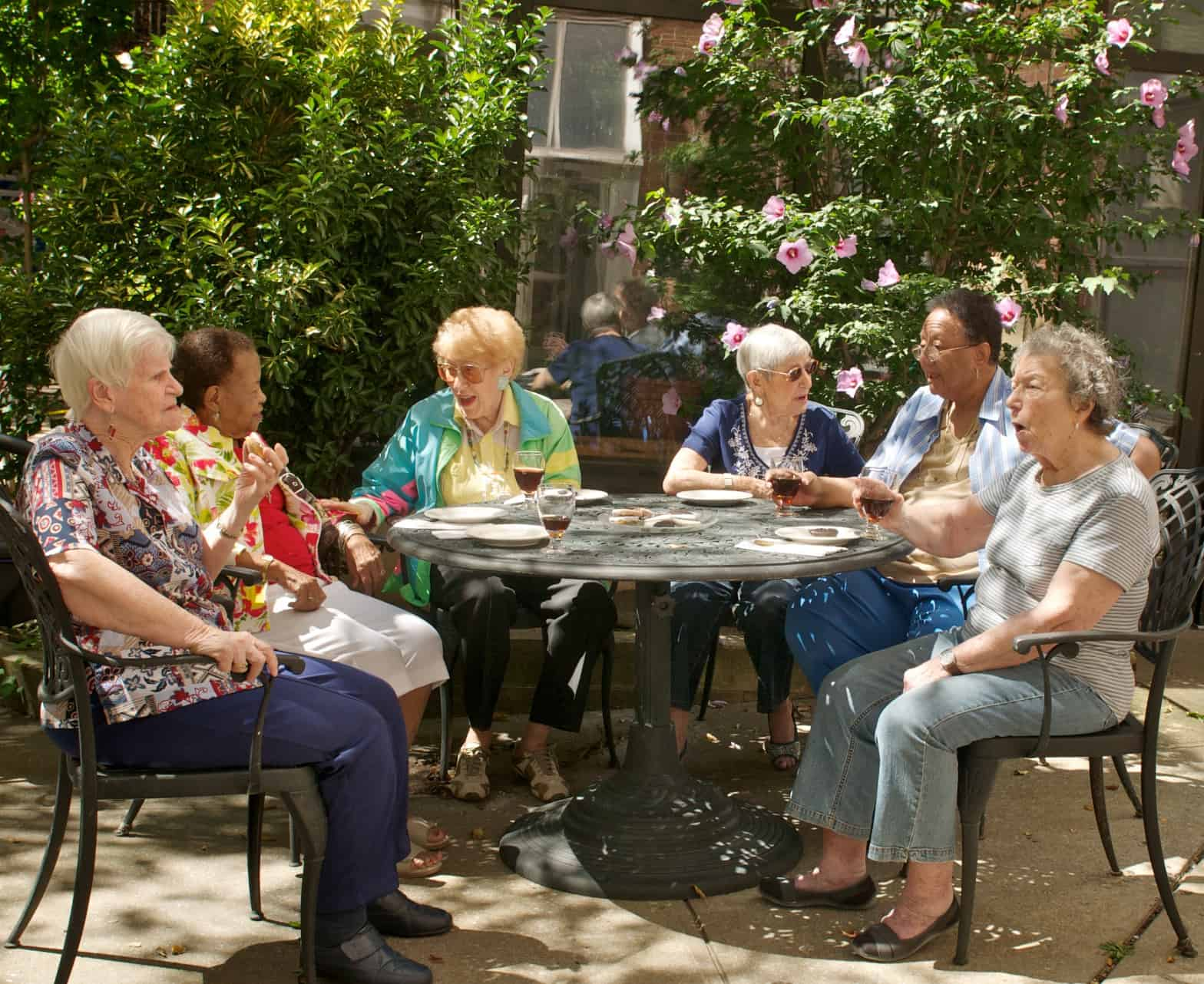 outdoor chair for elderly floral rocking cushions when to move a senior living community luther manor