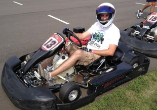 RL Toyota's Josh Sternau poses at the throttle.
