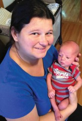 Katie Anderson and her new son, Owen