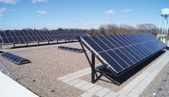 Solar panels on top