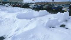 Mid-April storm, John Hirsch's Cambridge Motors