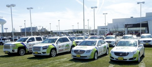 Luther's General Motors dealership in Fargo sponsored the Fargo Marathon in May, and the event featured several Buick and GMC models wrapped with event graphics by Luther APS. The marathon supports physical fitness and well-being as well as multiple area charities.