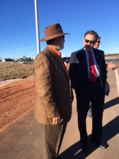 Ron Henry and Sen Ron Sharp at the opening of the Luther exit on the Turner Turnpike, Jan 2016.