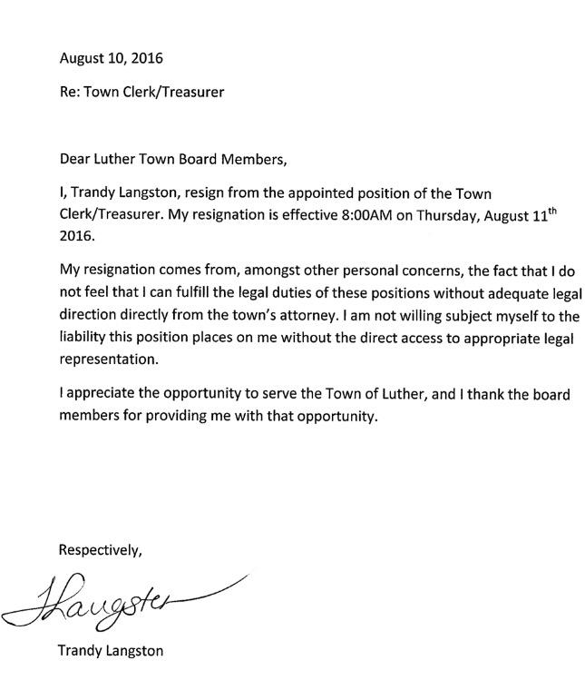 Trandy Resignation