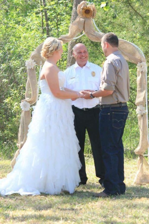 Chief Miller became ordained to perform a marriage ceremony for one of his guys