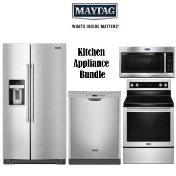 kitchen appliance packages stainless steel bed bath and beyond mat bundle buy now pay later financing bad credit maytag with electric range