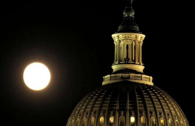 gambar-supermoon-di-washington