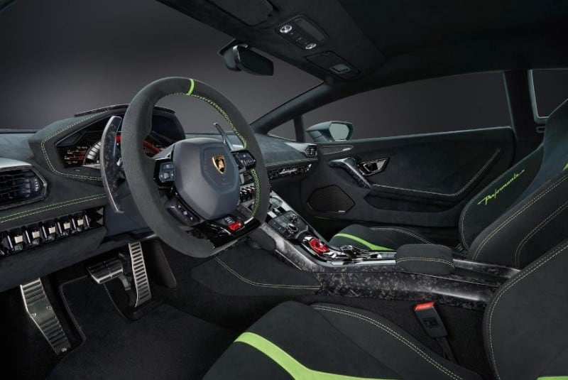 interior lamborghini performante