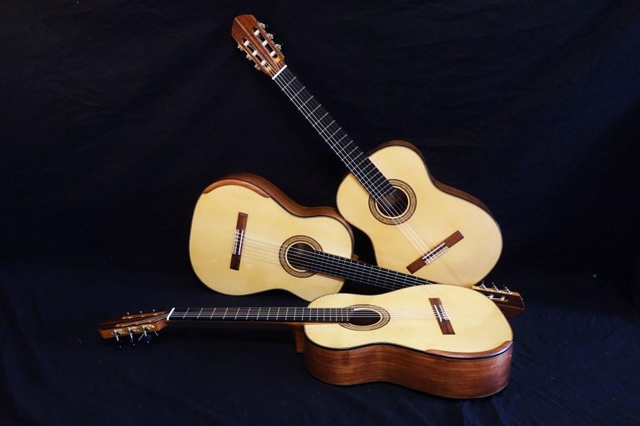 trois guitares classiques