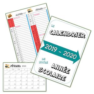 Calendrier 2019 2020 A Imprimer.Les Calendriers 2019 2020 Faits Lutin Bazar