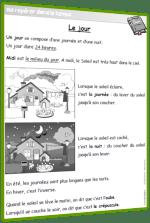 jour nuit leçon CP CE1