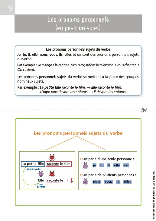 Reussir Son Entree En Grammaire Au Ce1 Version 2016 Lutin Bazar