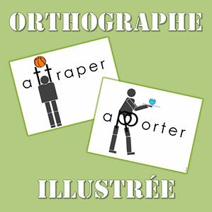 orthographe illustrée affiche