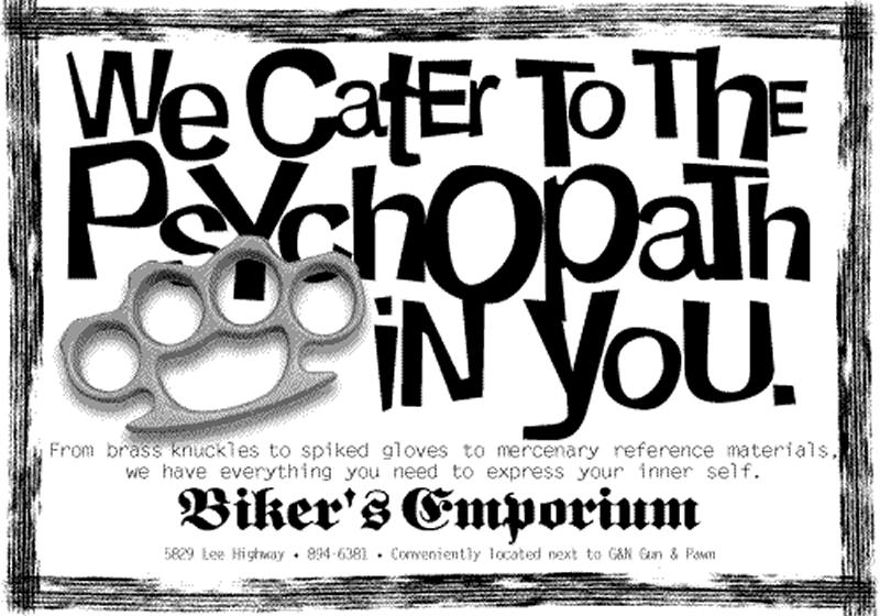 Biker's Emporium - Psychopath