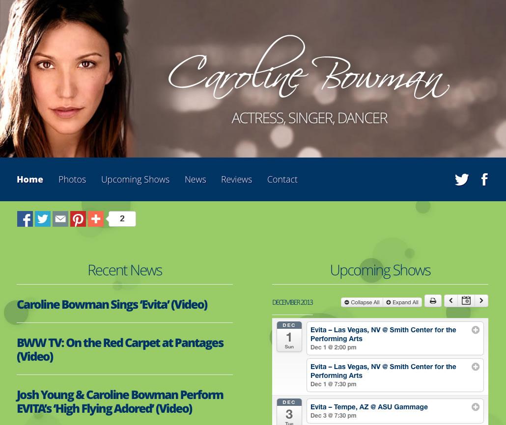 Caroline Bowman (WordPress Website)