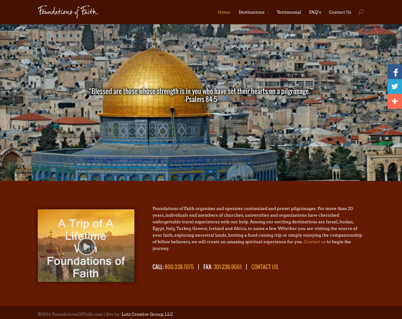 Foundations of Faith (WordPress Website)