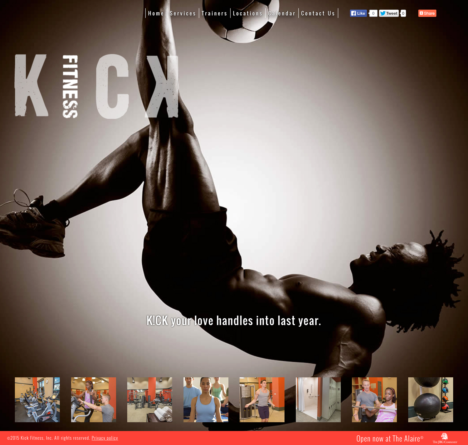 Brand-Aid - Kick Fitness (Website)