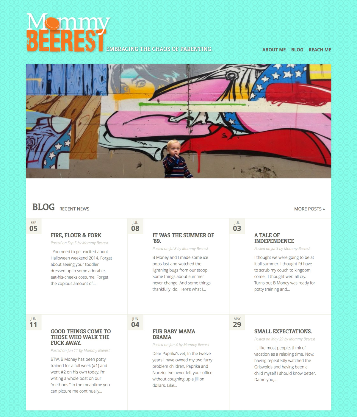 Mommy Beerest (WordPress Website)