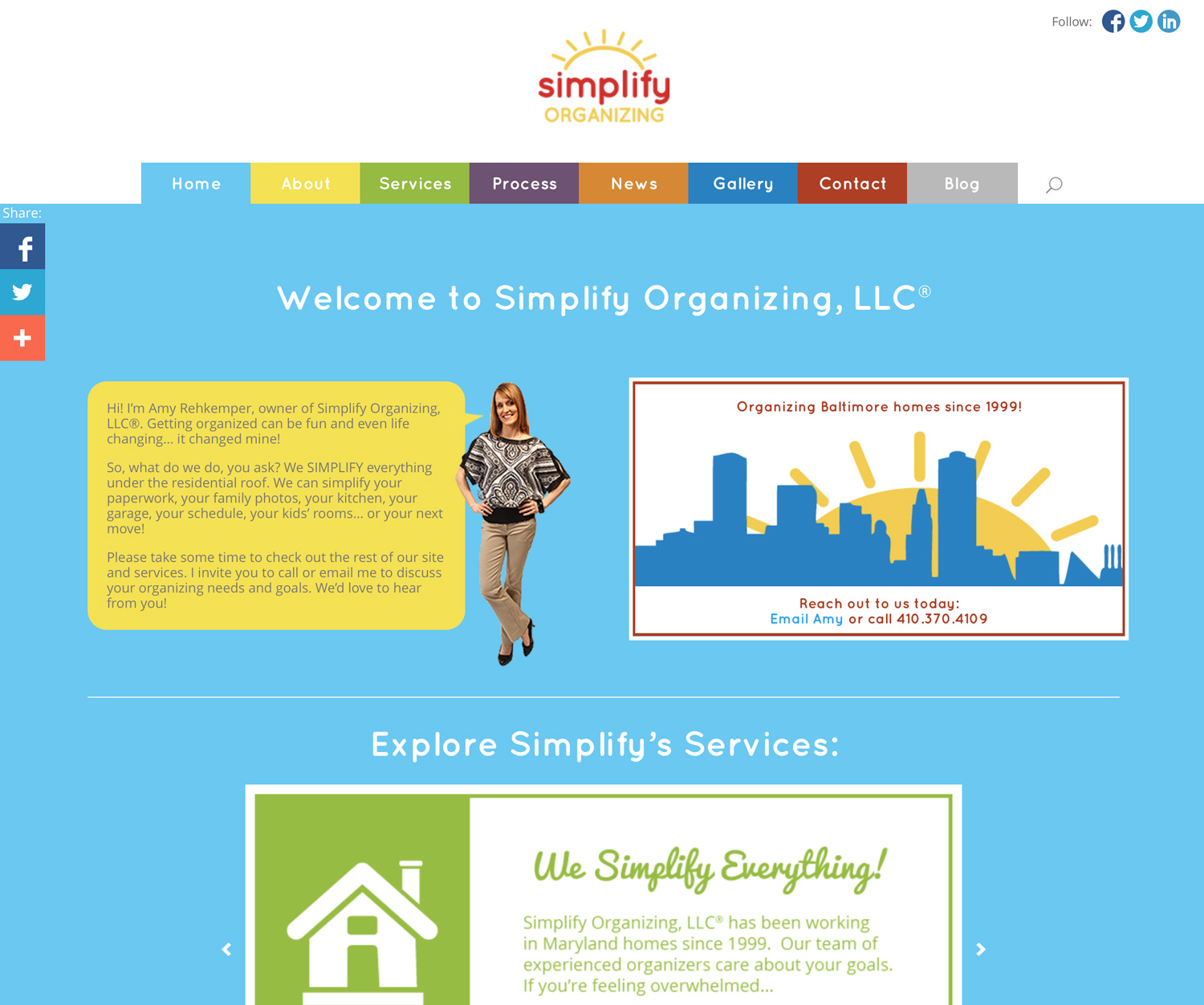 Simplify Organizing (WordPress)