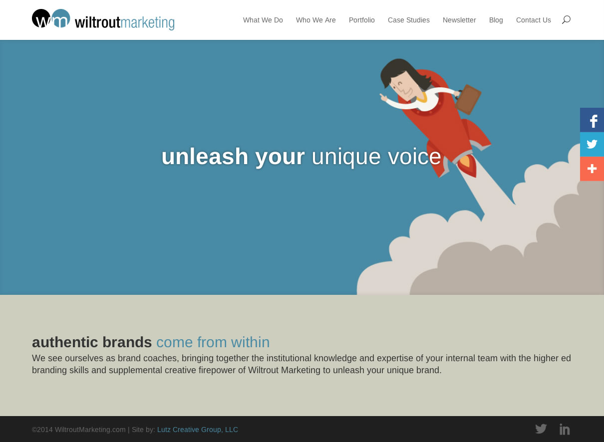 Wiltrout Marketing (WordPress Website)