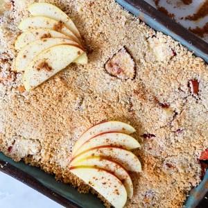 glutenvrije appelcrumble met amandelmeel