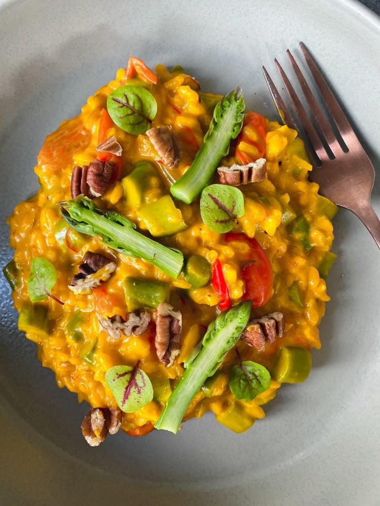 risotto romig met saffraan