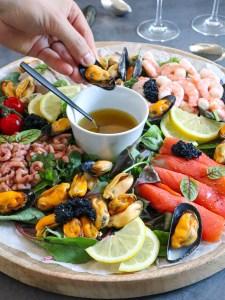 mosselen met salade