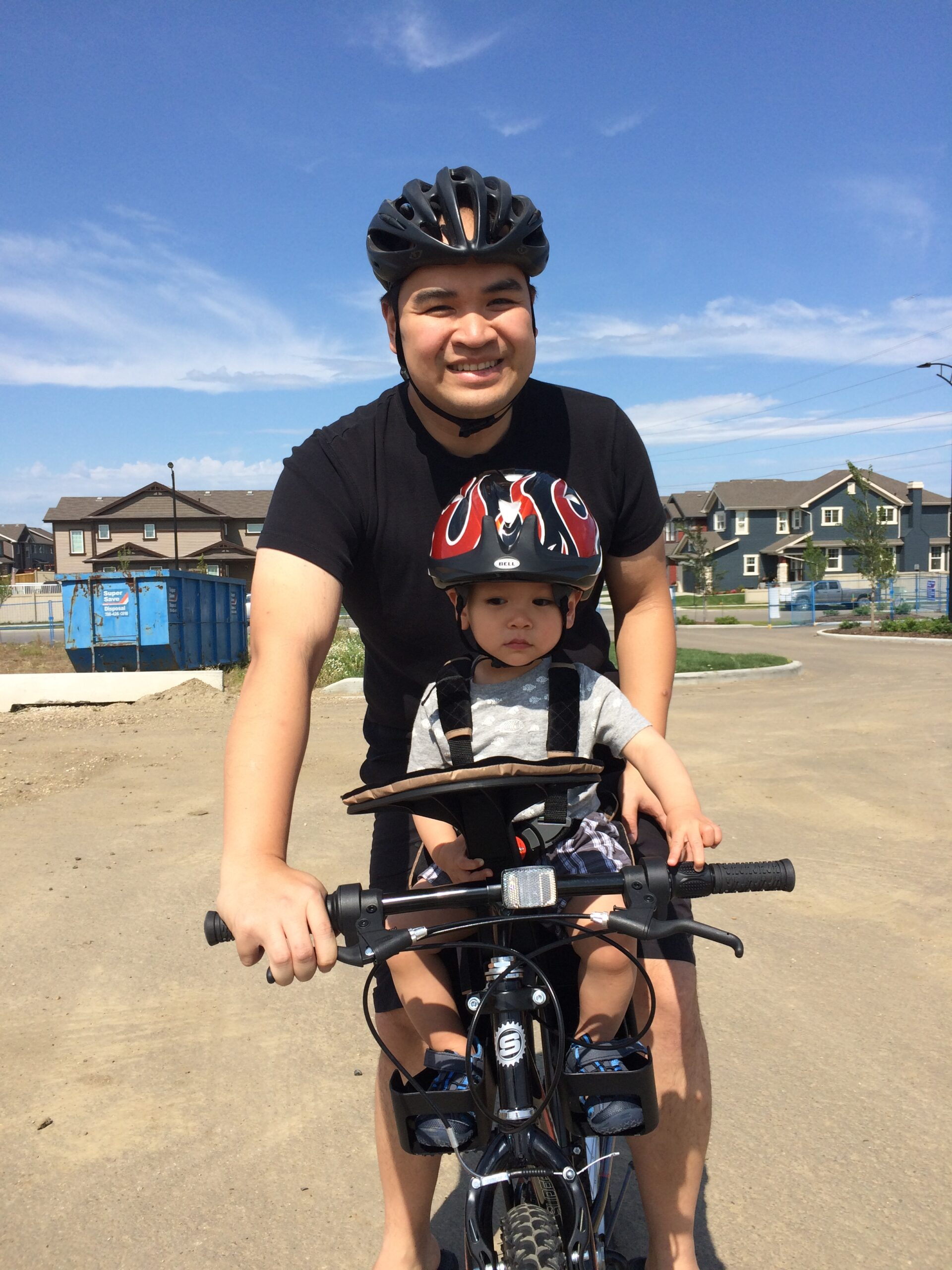 Andrew biking with kids - weight loss transformation - it is possible