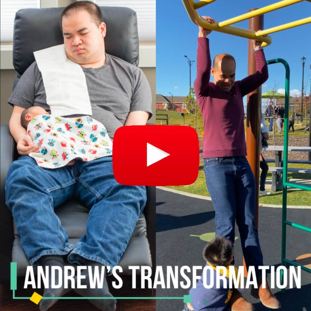 thumbnail preview of Andrew's weight loss transformation video