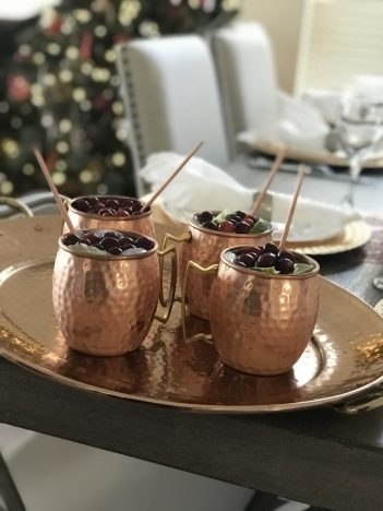 Cranberry Christmas Mules