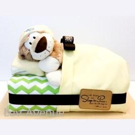 Sleeping Lion Diaper Cake Luv Avenue