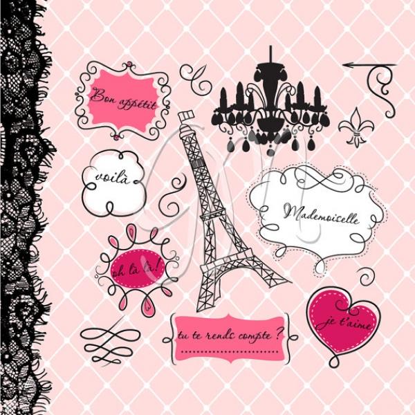 Paris Frames Print Clip Art Luvly
