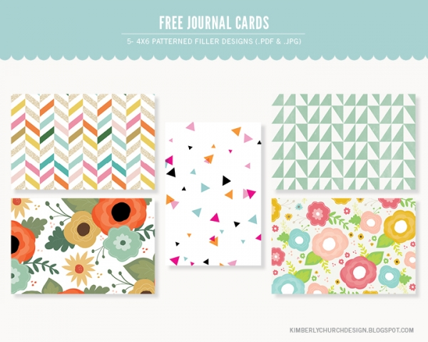 Patterned 4x6 Journal Cards Free Printables Luvly