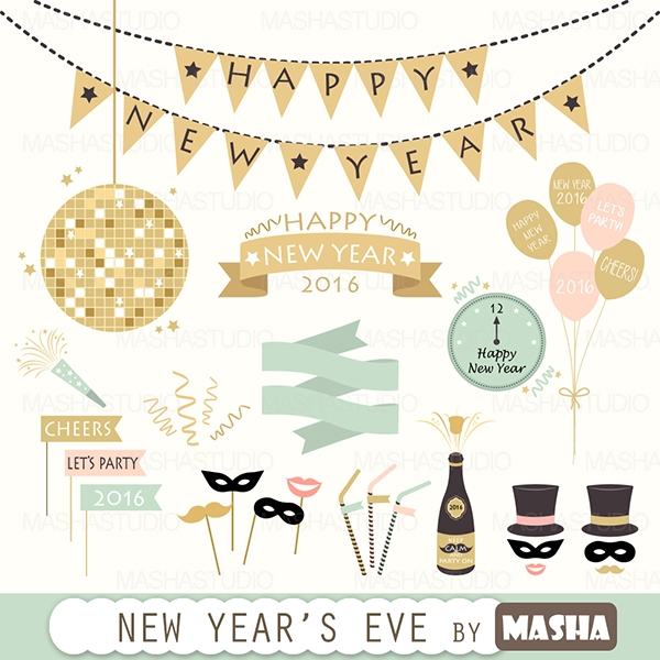 NEW YEARS EVE CLIPART Graphics Clip Art Luvly