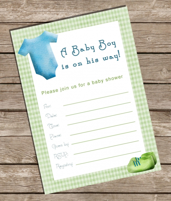 Fillable Baby Shower Invitation Boy Invitations Baby Luvly