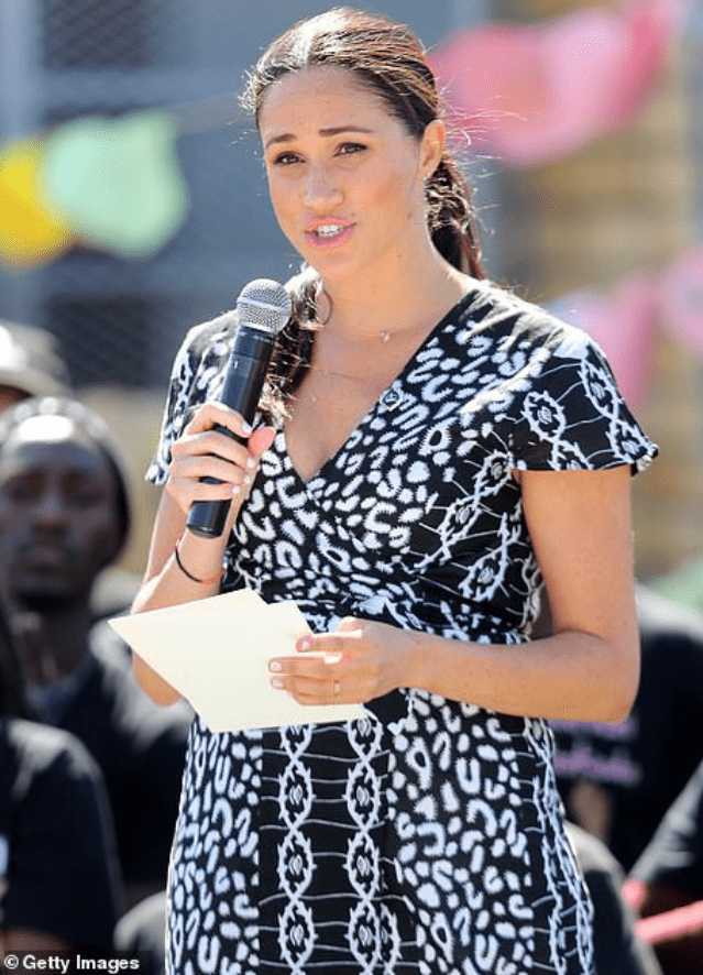 Meghan addressing south Africans