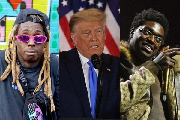 President Trump pardons rappers Lil Wayne and Kodak Black in his final hours in office