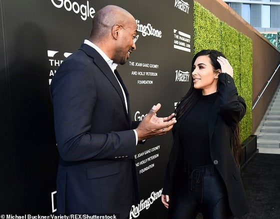 Reality TV star, Kim Kardashian is rumoured to be dating CNN presenter Van Jones