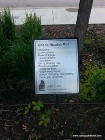 Downtown Minneapolis public poetry art