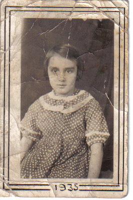 My mom's school photo, age 6
