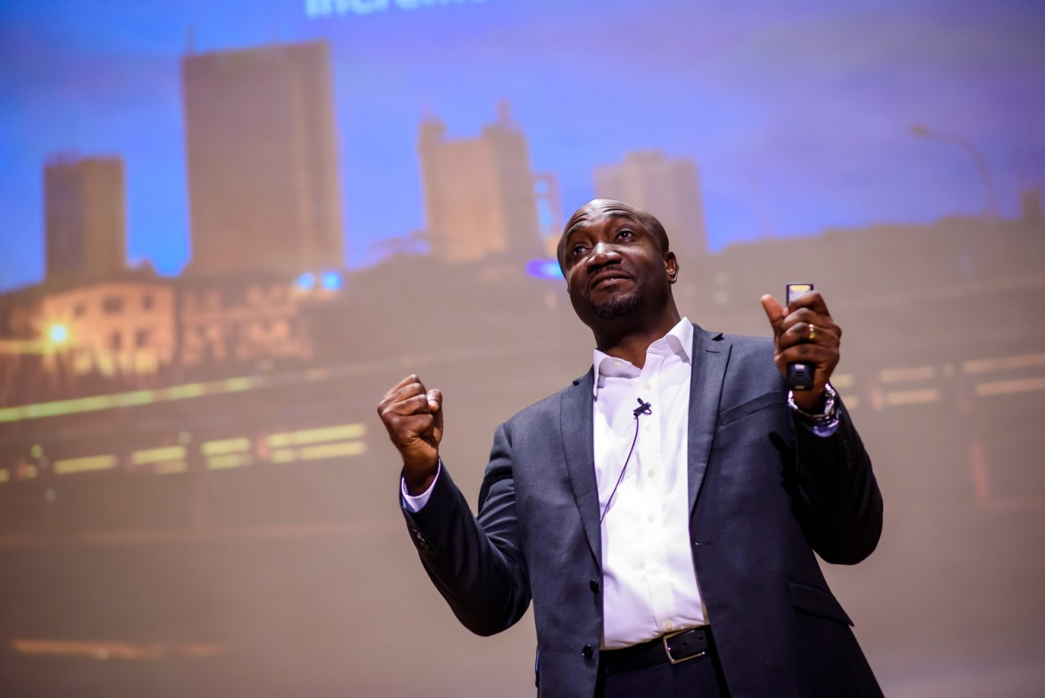 Charles Ifedi speaking at African Business Conference 2016