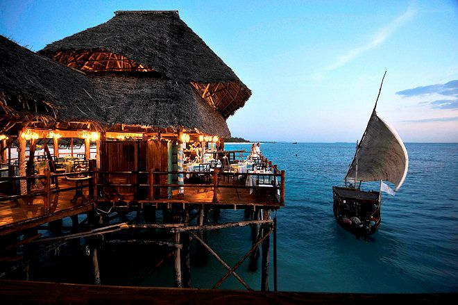 Photo Credit: Dining at water's edge zanzibar