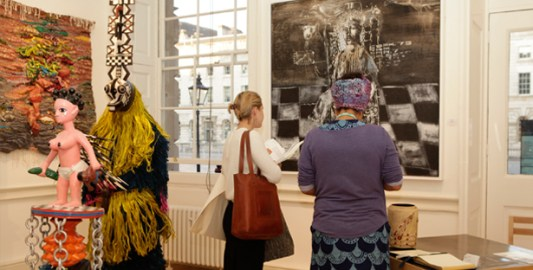 Contemporary African Art Fair visitors