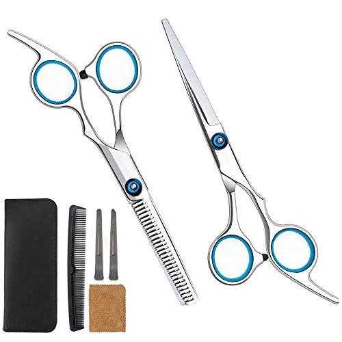 Hair Scissors 6 Pcs Professional Hair Cutting Scissors Set Haircutting