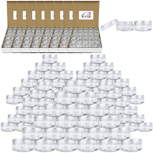 (Quantity: 1000 Pieces) Beauticom 5G/5ML Round Clear Jars