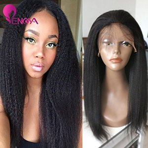 Natural Looking Italian Yaki Lace Front Wigs/Silk Top Lace Front Wigs